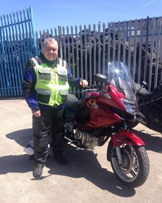 This is John who passed his DAS with us recently, and has come to show us his new ride a Honda Deauville :-)