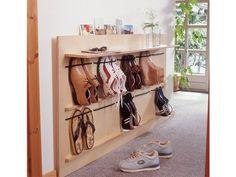 Полка для вертикального размещения обуви. Классная идея для вашего дома!