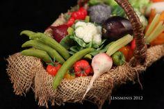 Miniature Vegetable Basket by Linda Cummings