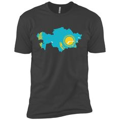 Kazakhstan flag Next Level Premium Short Sleeve Tee