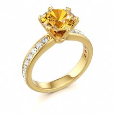 Citrine Engagement Ring, Colors of Eden