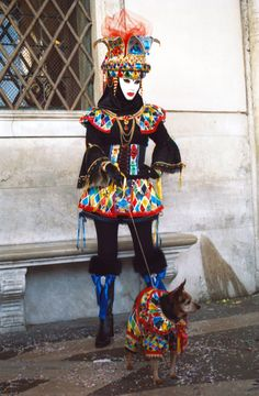 Venice - Lady Arlecchino & Dog