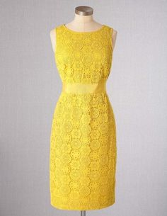 I've spotted this @BodenClothing Lace Dress Lemon Curd