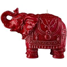 Mario Luca Giusti Home Medium Elephant Candle (€62) ❤ liked on Polyvore featuring home, home decor, candles & candleholders, red, elephant candle, elephant home decor, red candles and red home decor