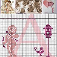 Alphabet x-stitch A