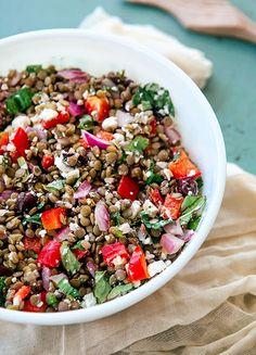 Some the Wiser: Greek Lentil and Feta Salad