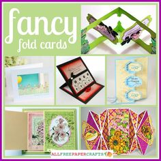 Learn how to make fancy fold cards with this collection of 9 card making tutorials.