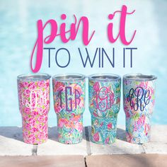 **GIVEAWAY** Who wants to win? Repin for a chance to win one of these amazing printed tumblers! A winner will be chosen on May 9th!