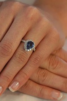 pretty saphire ring my mom would love this Delicate Engagement Ring, Diamond Wedding Rings, Diamond Engagement Rings, Halo Engagement, Diamond Rings, Saphire Ring, Right Hand Rings, Dream Ring, Diamond Are A Girls Best Friend