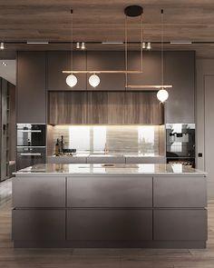 Project Raft on Behance Luxury Kitchen Design, Kitchen Room Design, Kitchen Cabinet Design, Kitchen Sets, Home Decor Kitchen, Interior Design Kitchen, Modern Interior Design, Kitchen Furniture, New Kitchen