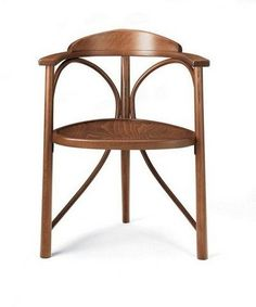 Here's our fine Michael Thonet Designed Rondo ST Armchair. We'll produce it upholstered or in a variety of stains and lacquers.