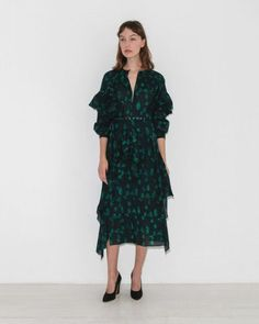 Rachel Comey Guile Dress in Navy Ethical Clothing, Ethical Fashion, Bohemian Print, Rachel Comey, Printed Cotton, Wrap Dress, Cold Shoulder Dress, Fashion Outfits, Sweaters