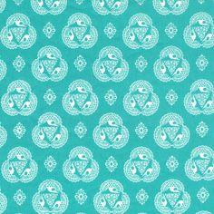 ...and Old Lace   Cerulean :: Tsuru by Rashida Coleman-Hale for Cloud9 Fabrics