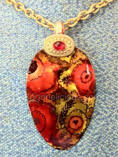 Hand dyed spoon pendant, created by Spoonelicious.com