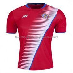 6cce6d4ef1021 Camisetas De Futbol Selección Costa Rica Copa Mundial 2018 Primera  Equipación