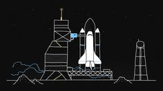 Primavera Sound's spaceship departs to space revealing the whole line-up of the festival. A special/spatial occasion that brings back… Collage Art Mixed Media, Animation Reference, Flat Illustration, Vector Illustrations, Animated Cartoons, Stick Figures, Inspirational Videos, Creative Studio, Motion Design