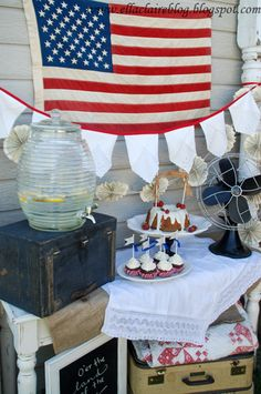 Vintage 4th of July Party Decor