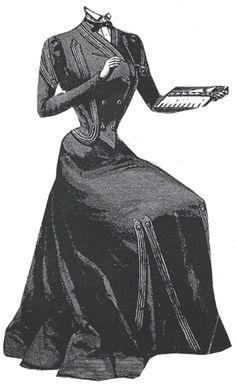 1900 Steel Gray Dress Pattern