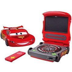 """Disney Cars 2 7"""" Widescreen Portable DVD Player, Red"""