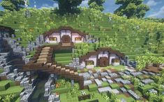 Minecraft Cottage, Cute Minecraft Houses, Minecraft House Designs, Amazing Minecraft, Minecraft Crafts, Minecraft Buildings, Minecraft Stuff, Plans Minecraft, Minecraft Mansion
