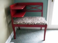 My gossip bench is way better than this one.  I don't think I'd ever paint or upholster it, so it will remain plain wood, but beautiful in my eyes.