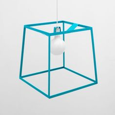 LET'S STAY: Industrial Lighting Fixtures Frame Light, Organic Modern, Aqua Color, Lamp Design, Geometric Shapes, Pendant Lighting, Light Pendant, Metal Working, Tech Accessories