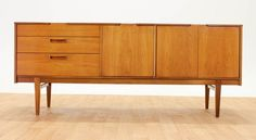 MID CENTURY Minimalist Teak Credenza/Media Console by Nathan. MCM. Vintage. #DanishModern #Stonehill
