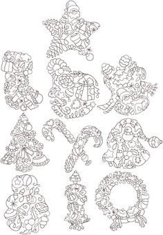Advanced Embroidery Designs - Christmas Ornament Quilting Set