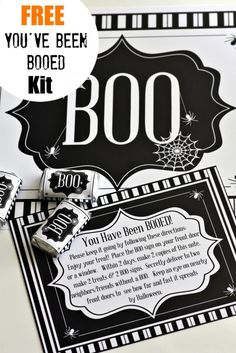 "Use our ""You've Been BOOed Free Printable Kit"" to ""BOO"" your neighbors this year! See more Halloween party ideas at CatchMyParty.com."