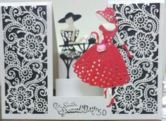Center Step Cards, Aliexpress Dies, Stepper Cards, Crafters Companion Cards, Tattered Lace Cards, Pop Up Box Cards, Dress Card, Birthday Cards For Women, Shaped Cards