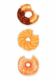 Donuts ~ hamsin illustration