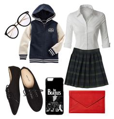 """""""Untitled #50"""" by laylakolo on Polyvore featuring LE3NO, French Toast, Wet Seal and Graphic Image"""