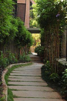 Landscaped pathway - Time Indiranagar Bangalore