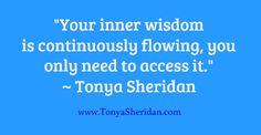 Inner wisdom    www.TonyaSheridan.com