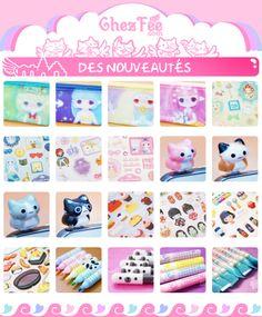 Des nouveautés 24-28 Février: Des fées, des chats, des gourmandises et des stylos kawaii! \(*o*)/  <3  - www.chezfee.com