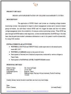 b tech ece resume download  resuma format