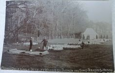 Photographic post card showing French Gardening(?) at Warley Woods by Sutton and Sons Reading May 1910