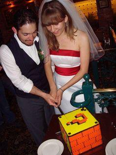 Mario Inspired Wedding cake