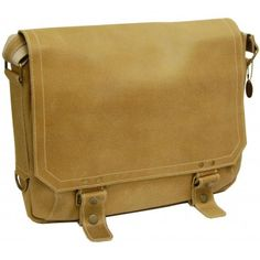 Messenger bag closes with snap buckles.  www.suitcase.com/david-king-distressed-east-west-laptop-messenger.html