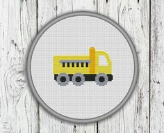 Truck, Lorry, Construction Trucks, Vehicles, Needlepoint Pattern - PDF, Instant…