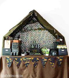 Army Camouflage Themed Birthday Party Planning Ideas via Kara's Party Ideas - www.KarasPartyIdeas.com-46