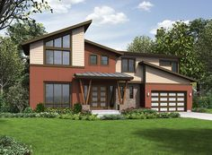 Contemporary House Plan With Garage Options - 23575JD   Contemporary, Modern, Northwest, 2nd Floor Master Suite, Bonus Room, Butler Walk-in Pantry, CAD Available, Den-Office-Library-Study, PDF   Architectural Designs