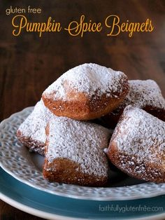 Gluten Free Pumpkin Spice Beignets from Faithfully Gluten Free