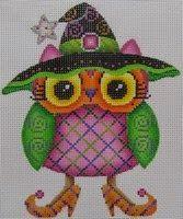 Pocket Full of Stitches: Melissa Shirley, owl needlepoint canvas