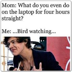 Bird watching!!! haha i am laughing really hard and i dont know why! hahahah