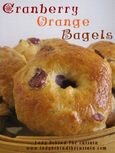 Crispy on the outside and chewing on the inside I love the texture of these Cranberry Orange Bagels. Making your own bagels is easier than you think. Bread Recipes, Cooking Recipes, Homemade Bagels, Christmas Breakfast, Sweet Bread, Breakfast Recipes, Brunch Recipes, Stromboli, Favorite Recipes