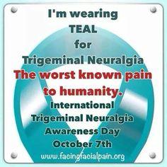 #FightTheBeast #TrigeminalNeuralgiaAwareness #TurnTheWorldTeal  #TrigeminalNeuralgia  #itnaf