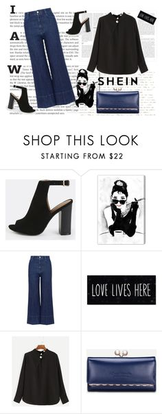 """""""shein style"""" by sheinfashion ❤ liked on Polyvore featuring Oliver Gal Artist Co. and STELLA McCARTNEY"""