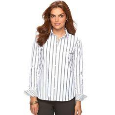 Women's Chaps No Iron Shirt, Size: