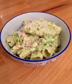 Pasta With Salmon And Broccoli In Cheese Sauce - Great Toddler Meal